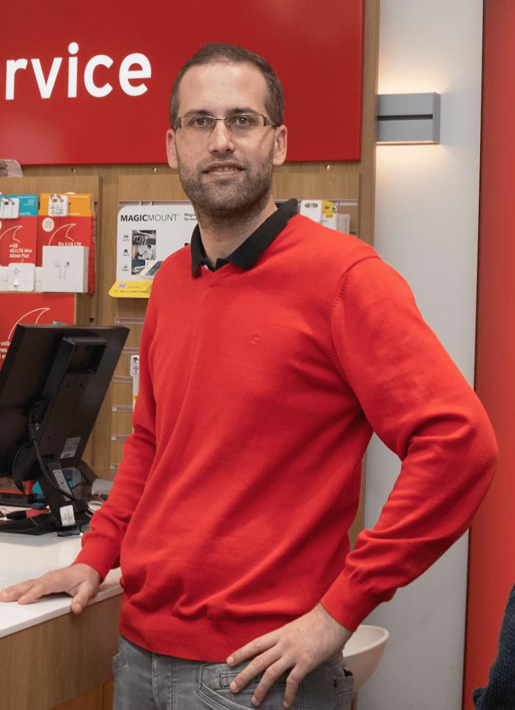 Manuel Meinig - Vodafone Shop Murnau - Foto Stoess